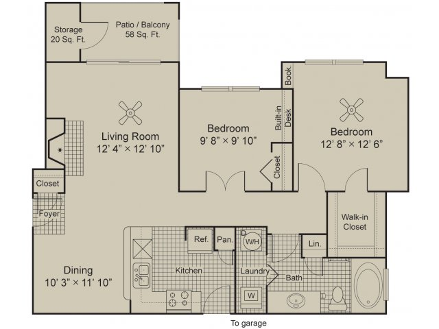 Moscato 2 bedroom apartment 1 bath