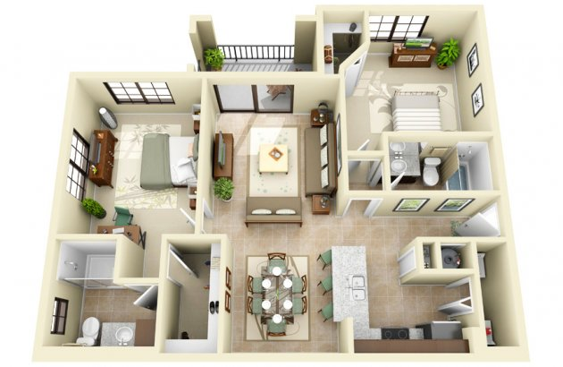 Select your Signature residence from our innovative collection of 1, 2 and 3 bedroom floor plans.