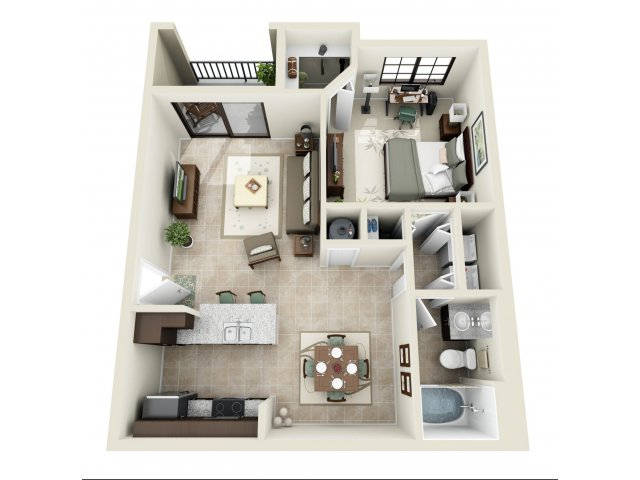 Signature at Kendall Apartments one bedroom Andaluz