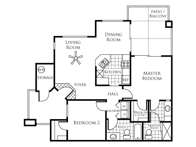 2 bed 2 bath apartment in chandler az symphony for Bach floor plans