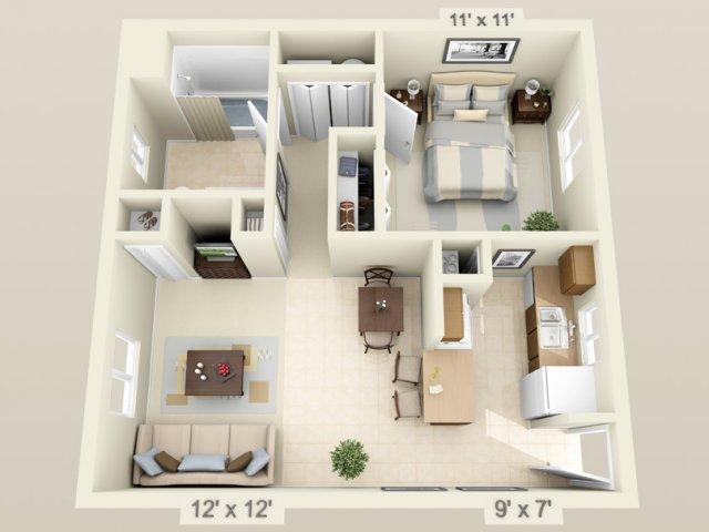 all floor plans 1 bedroom
