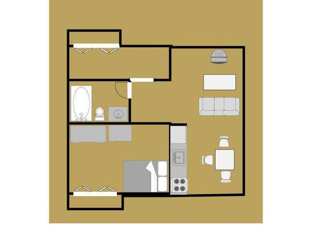 Ravenwood 1 Bedroom Apartment