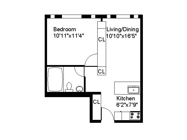 Center Ithaca Type A One Bedroom Apartment
