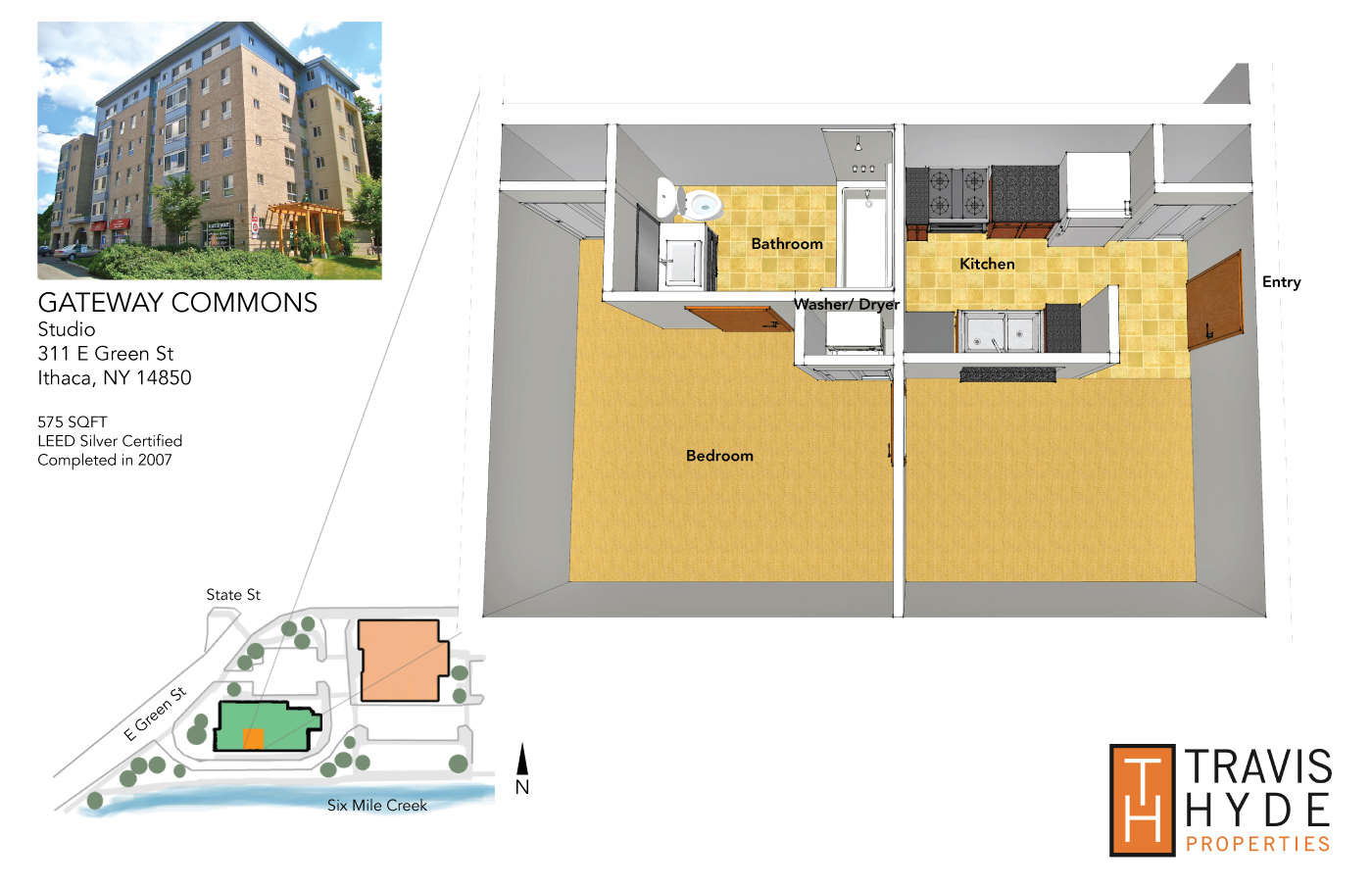 Downtown Ithaca Studio Apartment