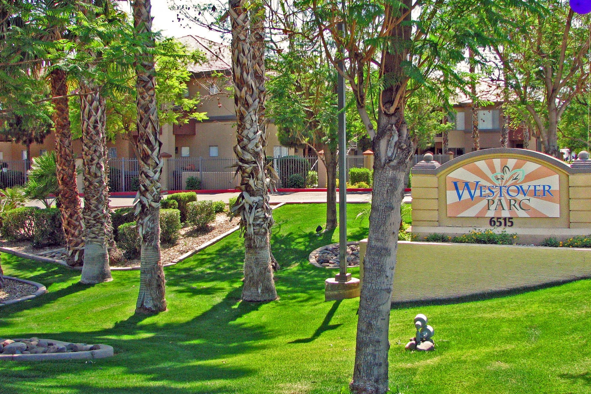 Westover Parc Apartments Phoenix, AZ signage and landscaping