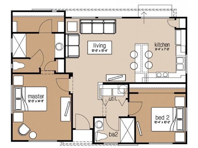 Avilla Heights Homes 1 2 3 Bedroom Floor Plans Chandler Az