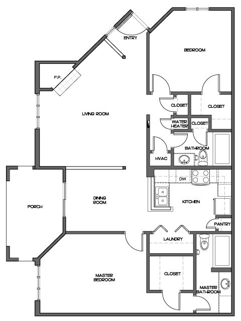 All Floor Planssmall Two Bedroom