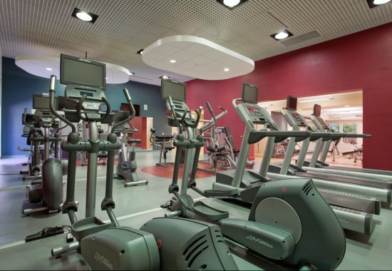 Gym at Windsor at Main Place Apartments in Orange CA