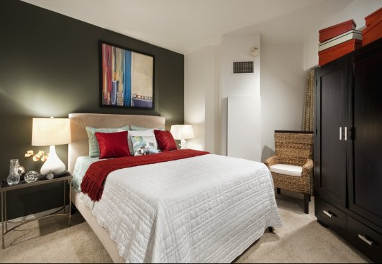 Bedroom at Renaissance Tower Apartments in Downtown Los Angeles