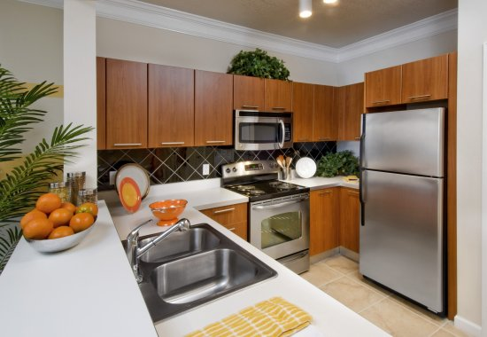 Modern kitchen at Windsor at Contee Crossing Apartments in Laurel MD