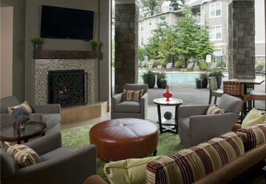 Model living area at Estates at Cougar Mountain Apartments in Issaquah WA