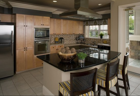 Gourmet kitchen at Reflections by Windsor Apartments in Redmond WA