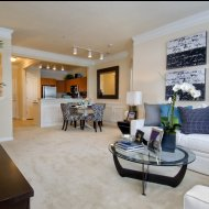 Model living room at Windsor at Contee Crossing Apartments in Laurel MD