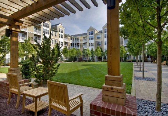 Outdoor lounge area at Windsor at Contee Crossing Apartments in Laurel MD