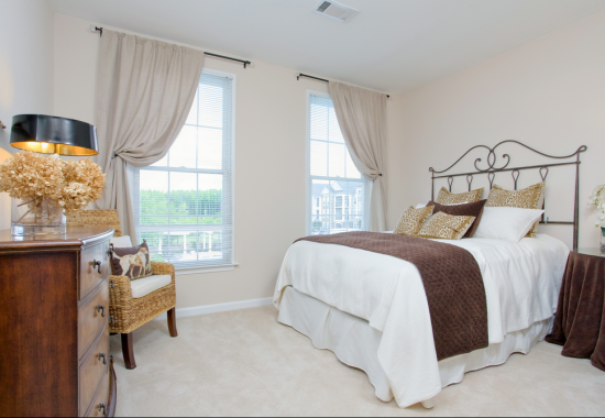 Bedroom at Windsor at Harpers Crossing Apartments in Langhorne