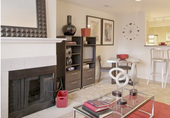 View of model living area at Windsor at Arbors Apartments in Alexandria VA