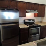 View of newly renovated kitchen at Windsor at Fieldstone Apartments in Leesburg VA