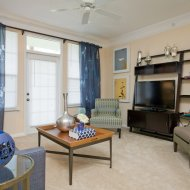 Model living room at Windsor at Miramar Apartments in Miramar FL