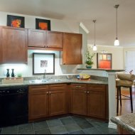 Modern kitchen at Trianon by Windsor Apartments in Dallas TX