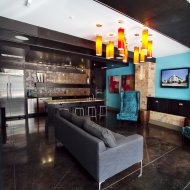 View of lounge at The Monterey by Windsor Apartments in Dallas TX