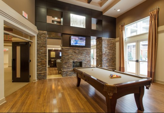 View of billiards room at Windsor at Brookhaven Apartments in Atlanta GA