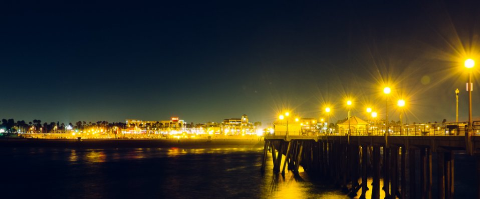 View of the beach near Boardwalk by Windsor Apartments in Huntington Beach CA