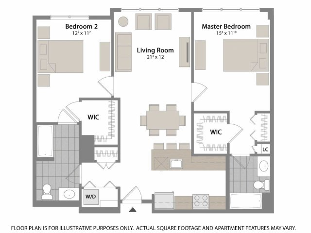 This floorplan features our largest Master bedroom which is perfect for oversized furniture.