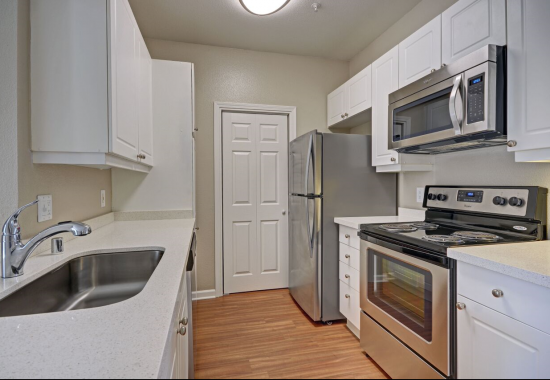 View of kitchen at Estates at Park Place Apartments in Fremont CA