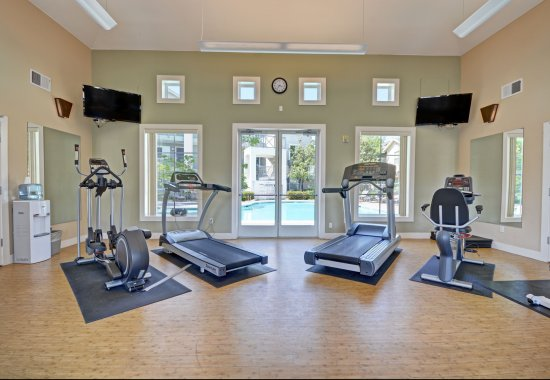 Exercise machines at The Kensington Apartment Homes in Plesanton CA