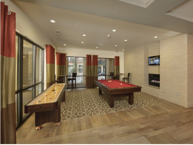 Image of Resident Social Lounge with billiards and Wi-Fi Access for The Manhattan