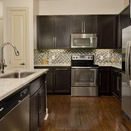 Upscale kitchen at Domain by Windsor Apartments in Houston TX