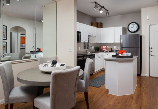 Open kitchen at Windsor at Meadow Hills Apartments in Aurora CO