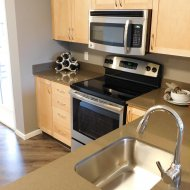 Gourmet kitchen at Tera Apartments in Kirkland WA