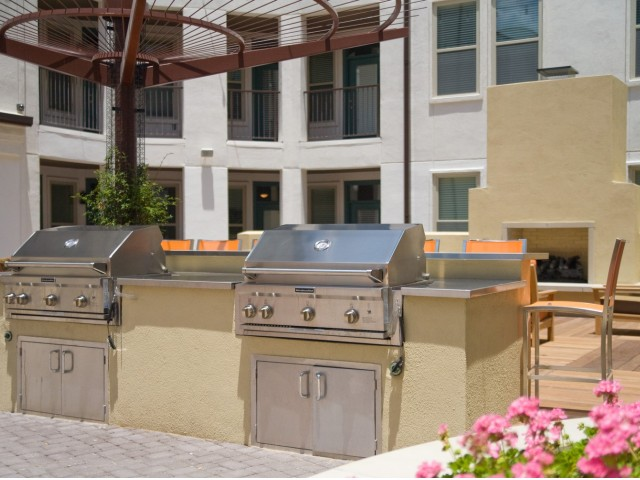 Image of State-of-the-art stainless steel BBQ grills for The Monterey by Windsor