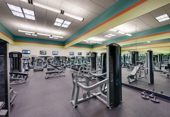 View of gym at Windsor at Arbors Apartments in Alexandria VA