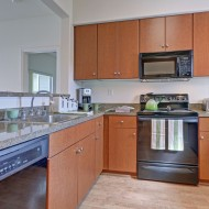 Spacious kitchen at The Kensington Apartment Homes in Plesanton CA