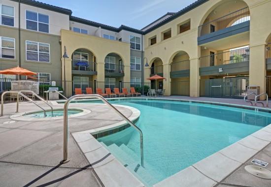 Swimming pool at Villa Montanaro Apartments in Pleasant Hill CA