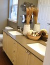 Luxury bathroom at Reflections by Windsor Apartments in Redmond WA