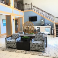 Lobby at Windsor at Main Place Apartments in Orange CA