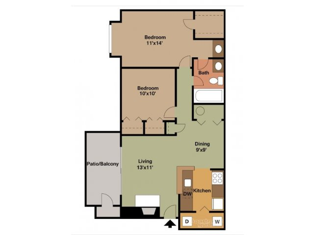 1 2 Bedroom Apartments For Rent In West End Richmond Va Sundance Station