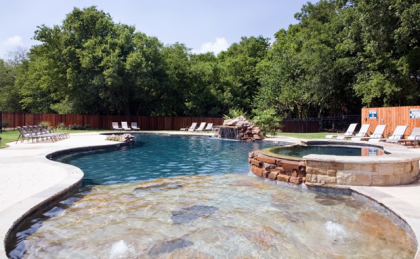 Refreshing pool at our homes for rent in Waco TX