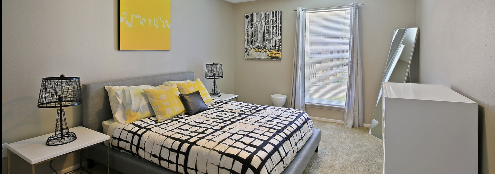Elegant Bedroom | Apartments For Rent Baton Rouge Near LSU | The Hub at Baton Rouge Apartment Homes