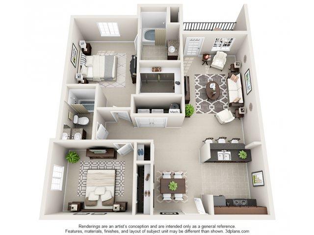 Preakness 3-D Floor Plan