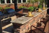 Poolside Grilling Area at Coldwater Creek Apartments