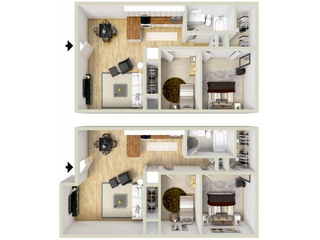 2 bedroom, 1 bathroom apartment Virginia Beach, VA