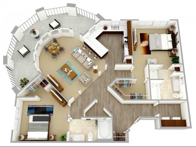 2 bed 2 bath apartment in columbia sc nexus at sandhill for Two bedroom apartments in columbia sc