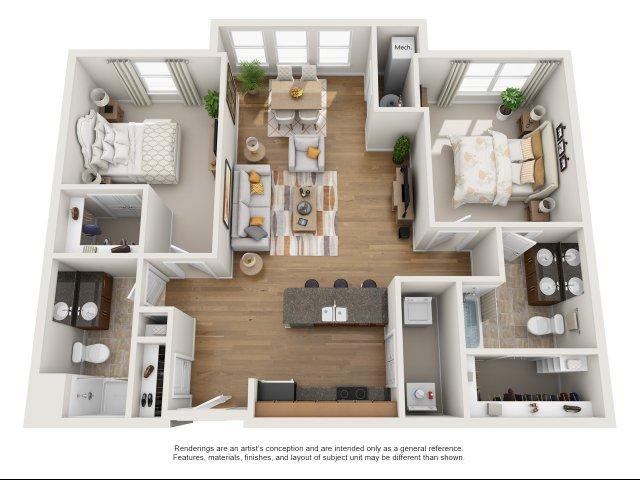 2 br, 2 bath with sunroom apartment for rent Williamsburg, VA