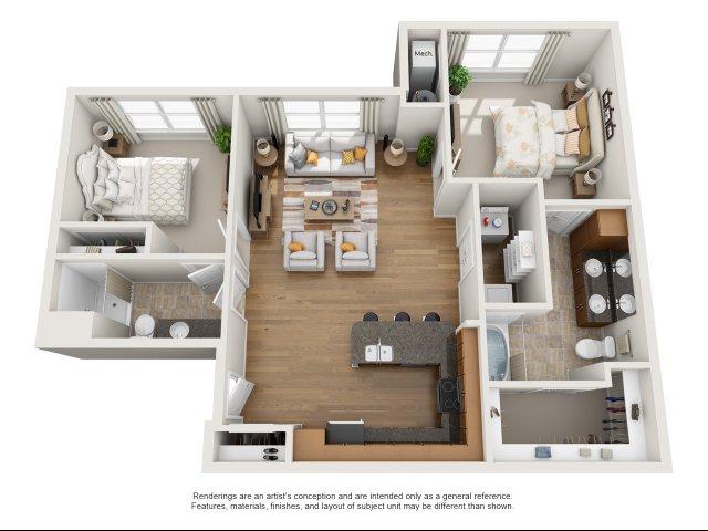 2 br, 2 bath with den apartment for rent Williamsburg, VA