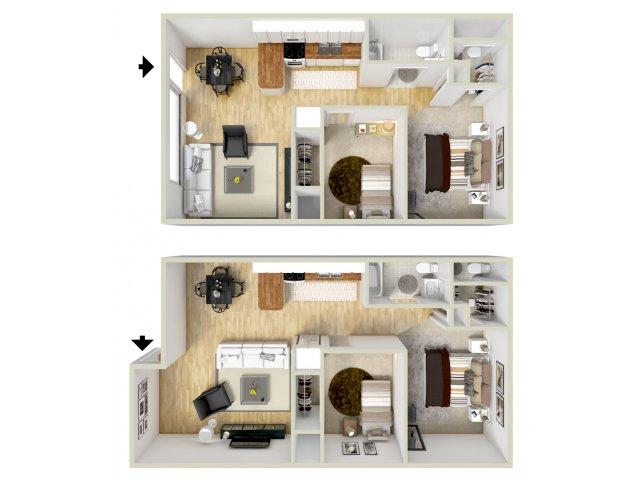 2 bedroom  1 5 bath apartment Virginia Beach  VA. Virginia Beach VA 1   2 Bedroom Apartments   Floor Plans