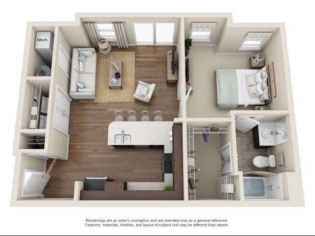 1 bedroom, 1 bath Carriage House Chesapeake, VA